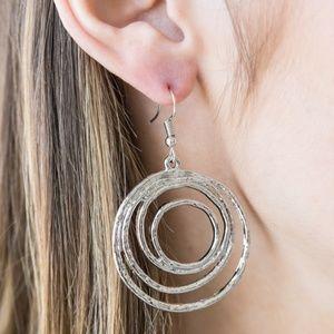 """""""Very Vertigo' - Silver Circle Dangle Earrings"""